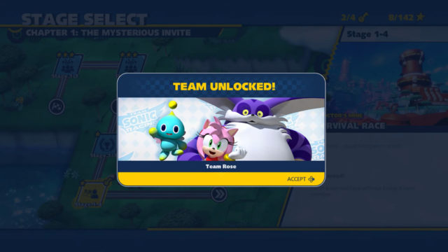 Team Sonic Racing Unlockable Characters