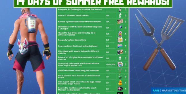 Fortnite 14 Days of Summer Guide