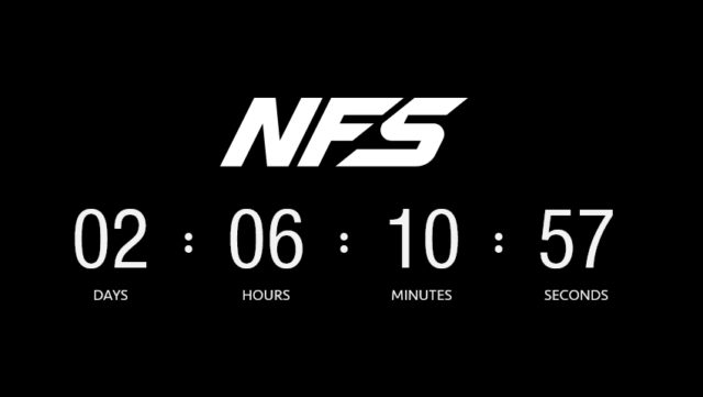 Need For Speed 2020 Countdown