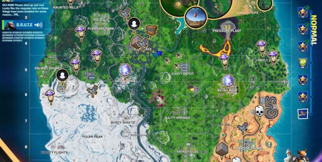 Fortnite Season 10 Week 3 Normal Challenges Map