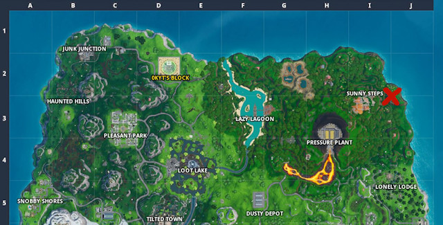Fortnite Season 10 Week 4 Battle Star Map Coordinates