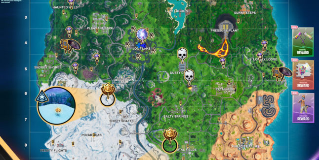 Fortnite Season X Week 5 Challenges Cheat Sheet