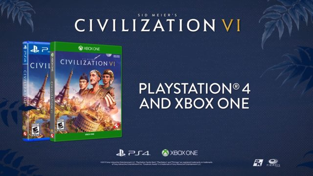 Civilization VI PS4 and Xbox One Banner