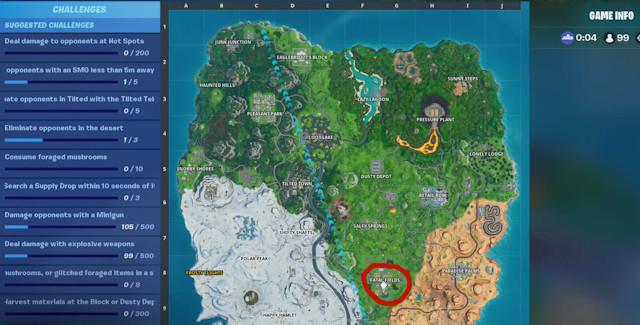 Fortnite Season 10 Week 6 Battle Star Map Coordinates