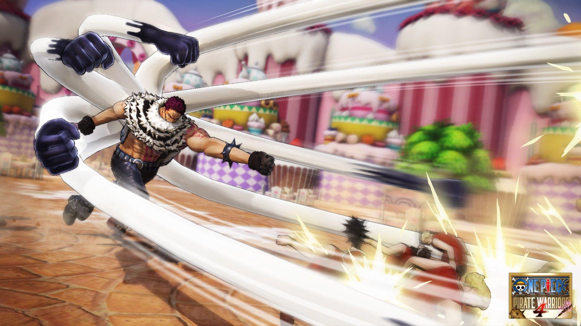 One Piece Pirate Warriors 4 Luffy Snakeman and Charlotte Katakuri Screen 2