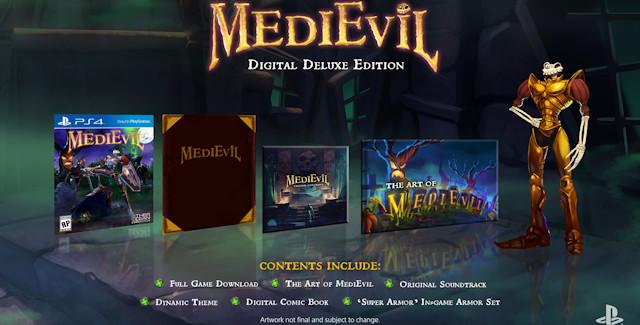 MediEvil PS4 Digital Deluxe Edition's Golden Super Armor DLC