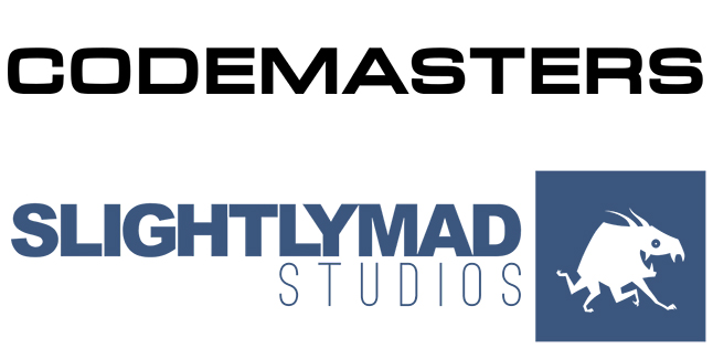Codemasters Slightly Mad Studios Logos