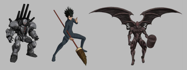One Punch Man A Hero Nobody Knows Metal Knight Stinger and Melzargard