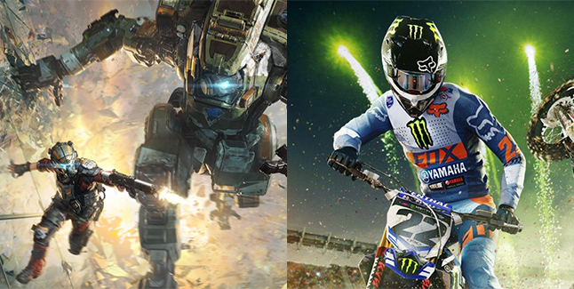 Titanfall 2 and Monster Energy Supercross The Official Videogame Banner