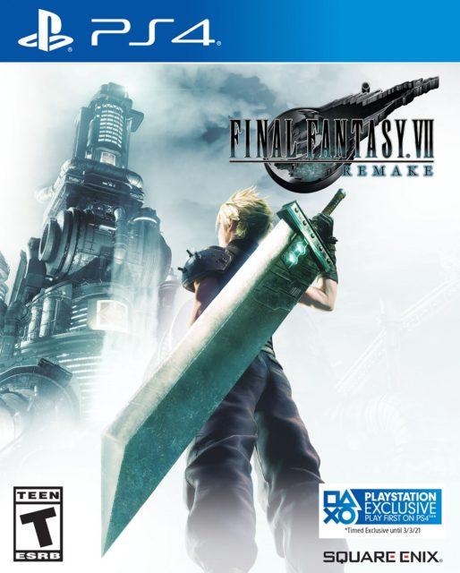 Final Fantasy VII Remake Updated Box Art Label