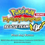 Pokemon Mystery Dungeon Rescue Team DX Demo