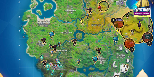 Fortnite Chapter 2 Overtime 4 Challenges Cheat Sheet