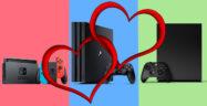 Nintendo Switch, Sony PS4, Microsoft Xbox One love
