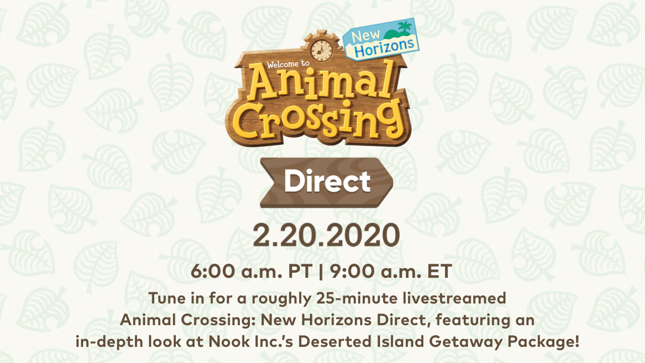 Animal Crossing New Horizons Direct Announced for February 20