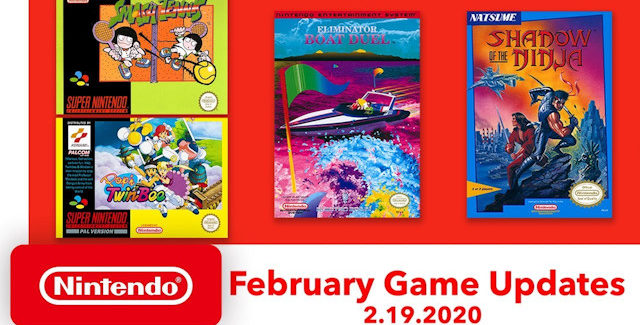 Nintendo Switch Online Games for February 2020 Lineup