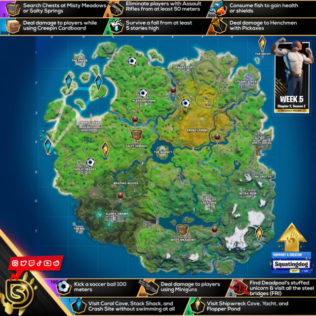 Fortnite Chapter 2 Season 2 Week 5 Challenges Cheat Sheet