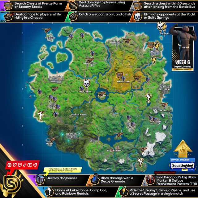 Fortnite Chapter 2 Season 2 Week 6 Challenges Cheat Sheet