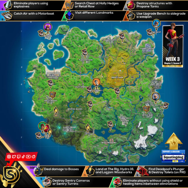 Fortnite Chapter 2 Season 2 TNTina's Trial Challenges Cheat Sheet