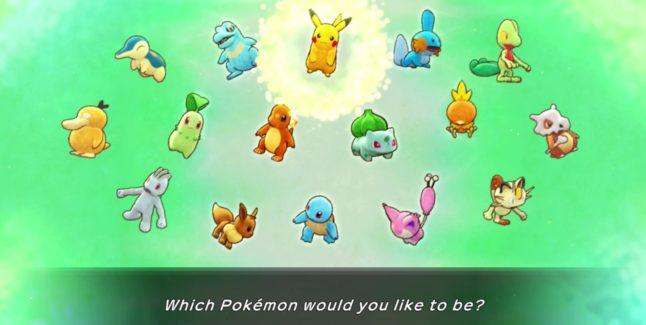 Pokemon Mystery Dungeon: Rescue Team DX starters
