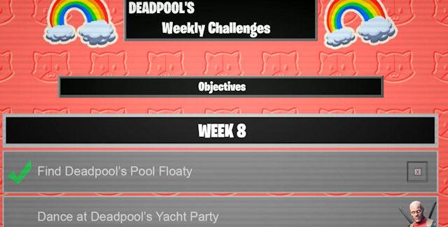 Fortnite Chapter 2 Season 2 Week 8 Deadpool Challenges Guide