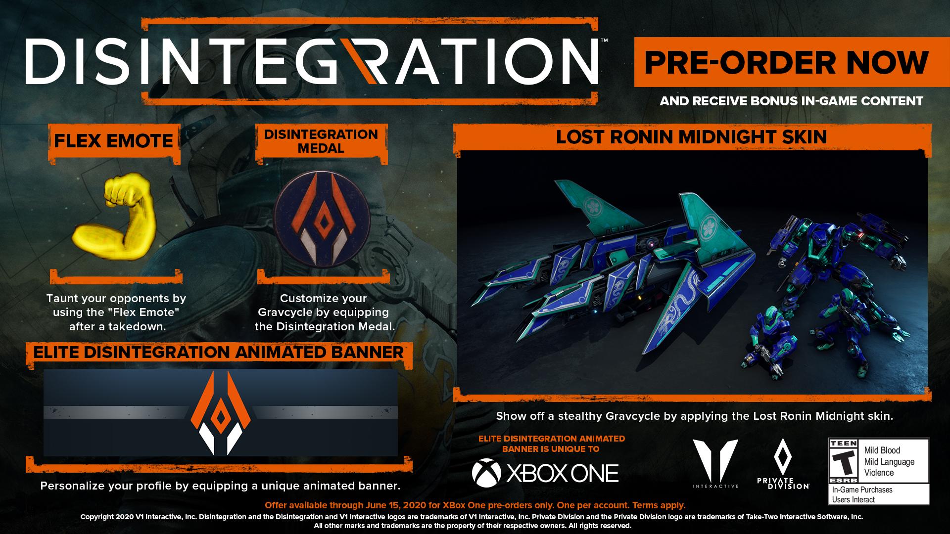 Disintegration Xbox One Pre-order Bonus