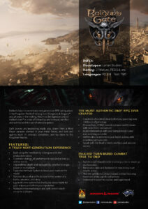 Baldurs Gate III Fact Sheet 1