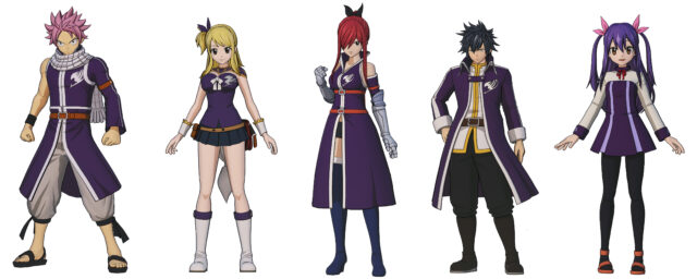 Special Grand Magic Games team costumes