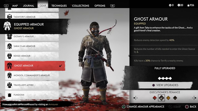 Ghost of Tsushima Ghost Armor
