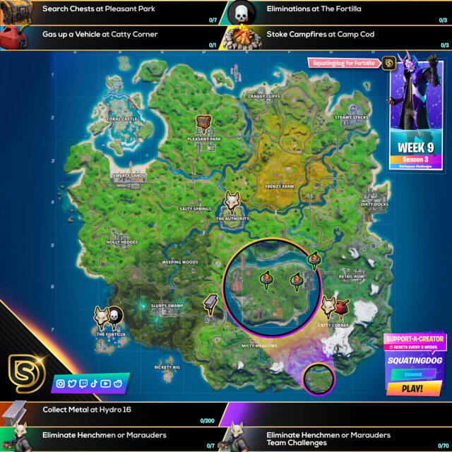 Fortnite Chapter 2 Season 3 Week 9 Challenges Cheat Sheet