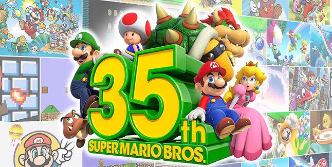 35th Anniversary Super Mario Bros Banner Small