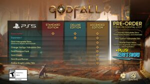 Godfall PS5 Editions