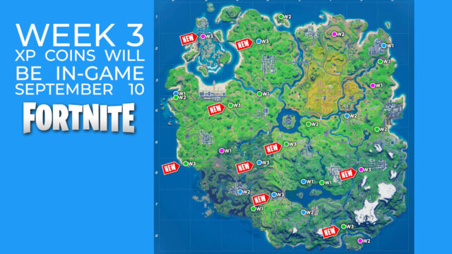 Fortnite Chapter 2 Season 4 Week 3 XP Coins Cheat Sheet