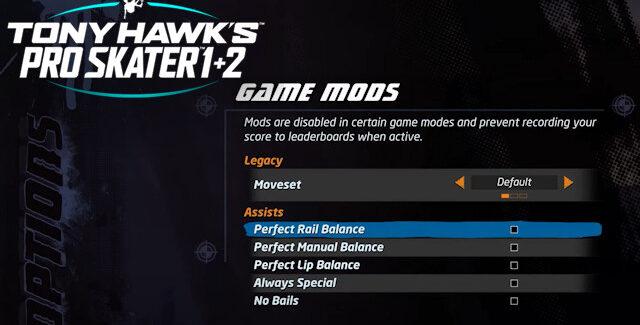 Tony Hawk's Pro Skater 1 and 2 Remake Cheats
