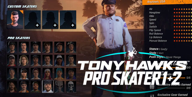 Tony Hawks Pro Skater 1 and 2 Remake Unlockable Secret Characters