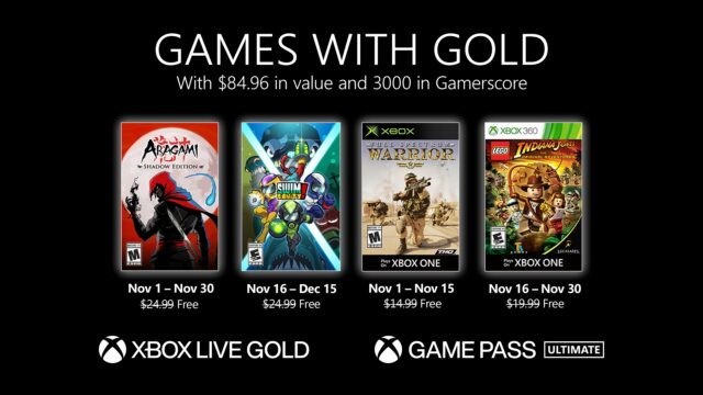 November 2020 Games with Gold
