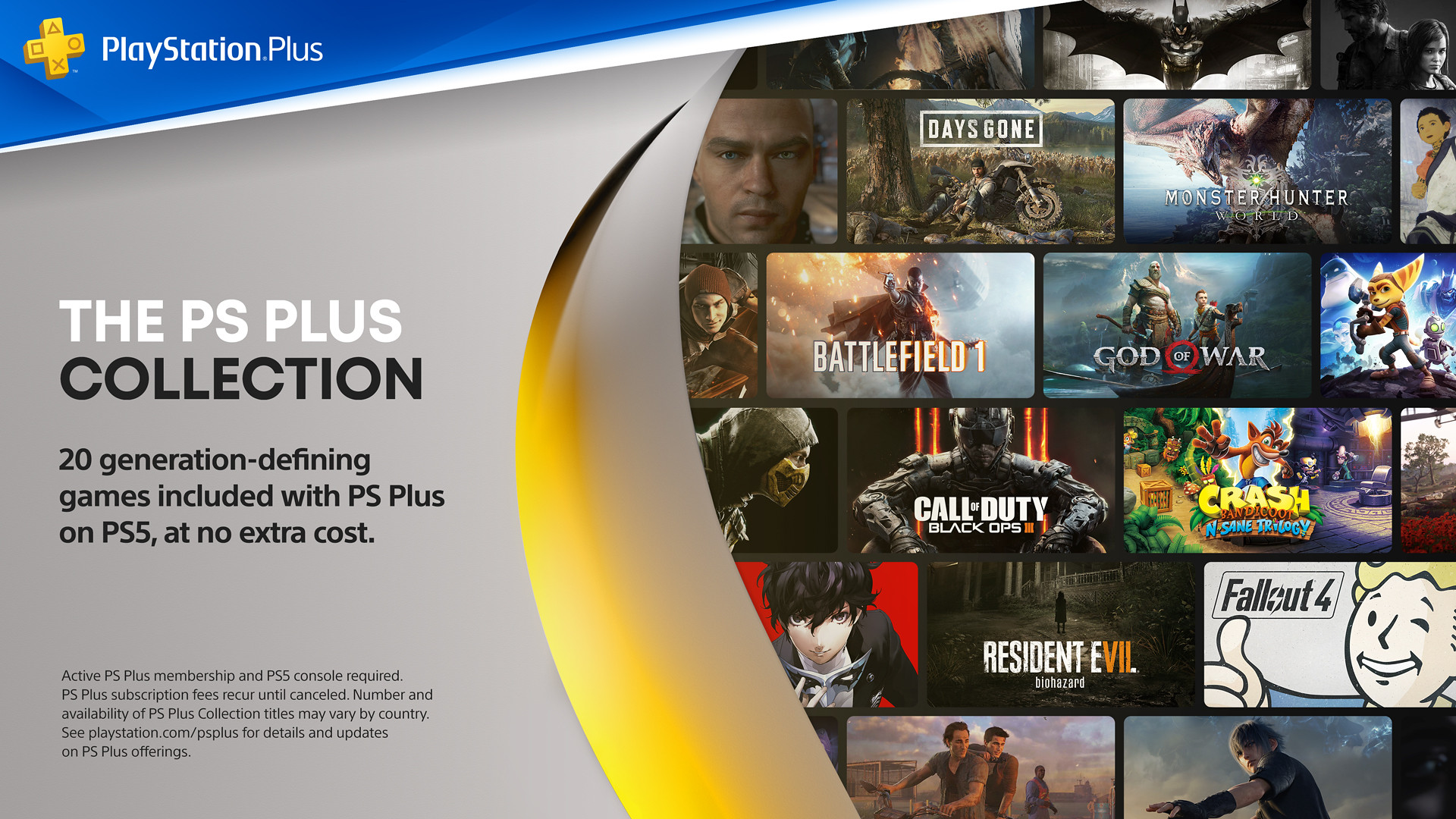 The PS Plus Collection Banner