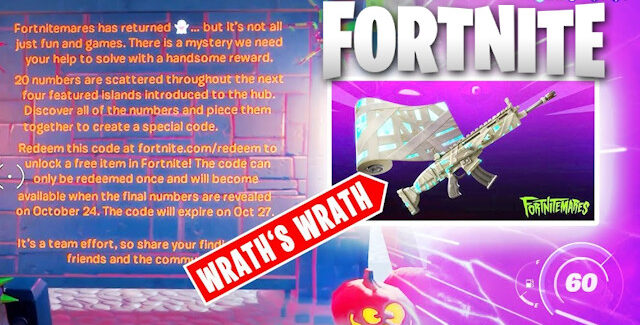 Fortnite Chapter 2 Season 4 Fortnitemares Wrath's Wrath Wrap Cheat Code