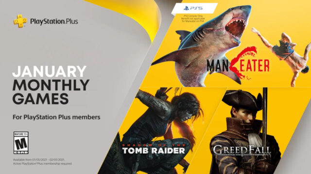 PlayStation Plus Free Games for January 2021