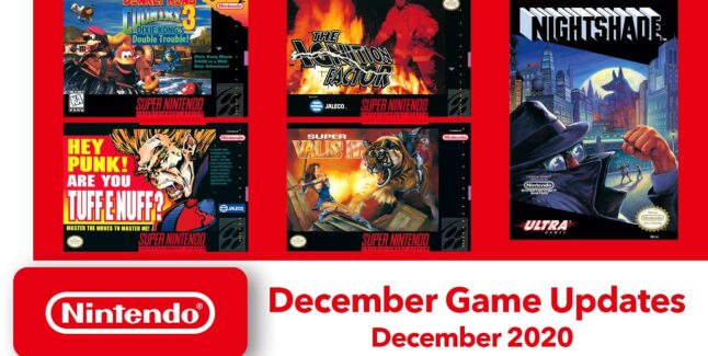 Nintendo Switch Online Games for December 2020 Lineup