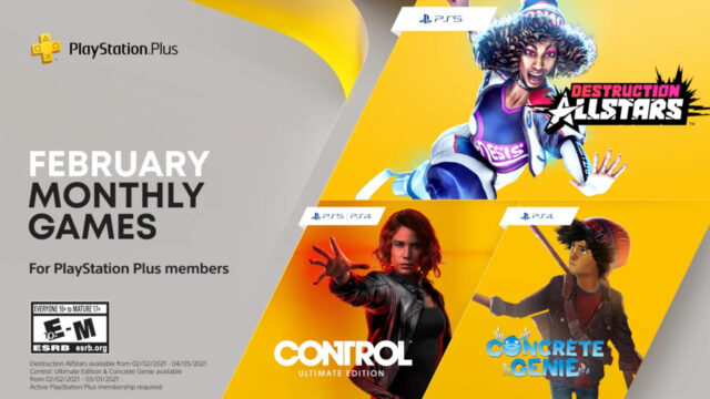 PlayStation Plus Free Games for February 2021