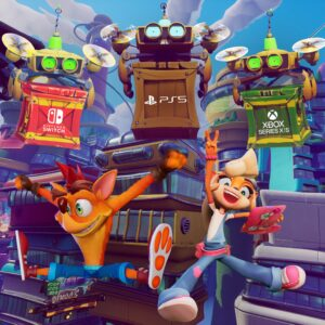 Crash Bandicoot 4 Its About Time Switch PS5 Xbox Series X-S Poster