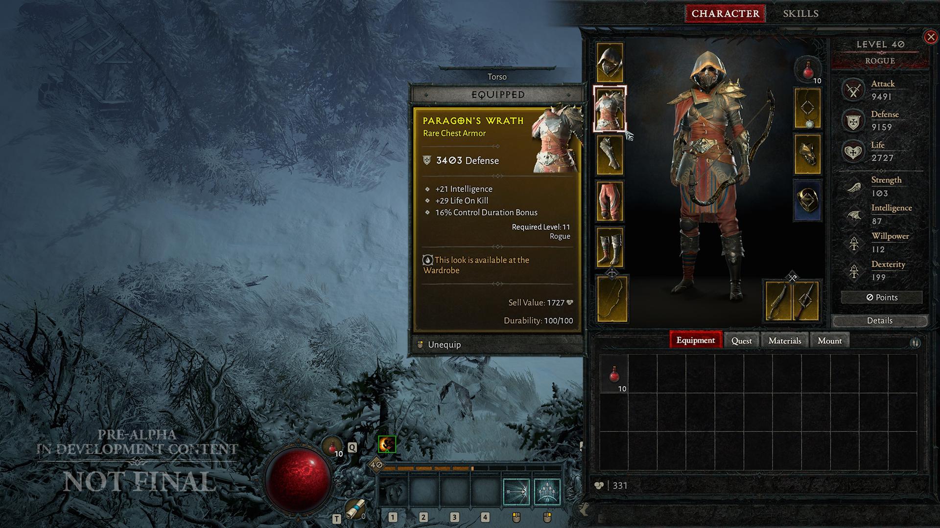 Diablo IV Rogue Screen 2