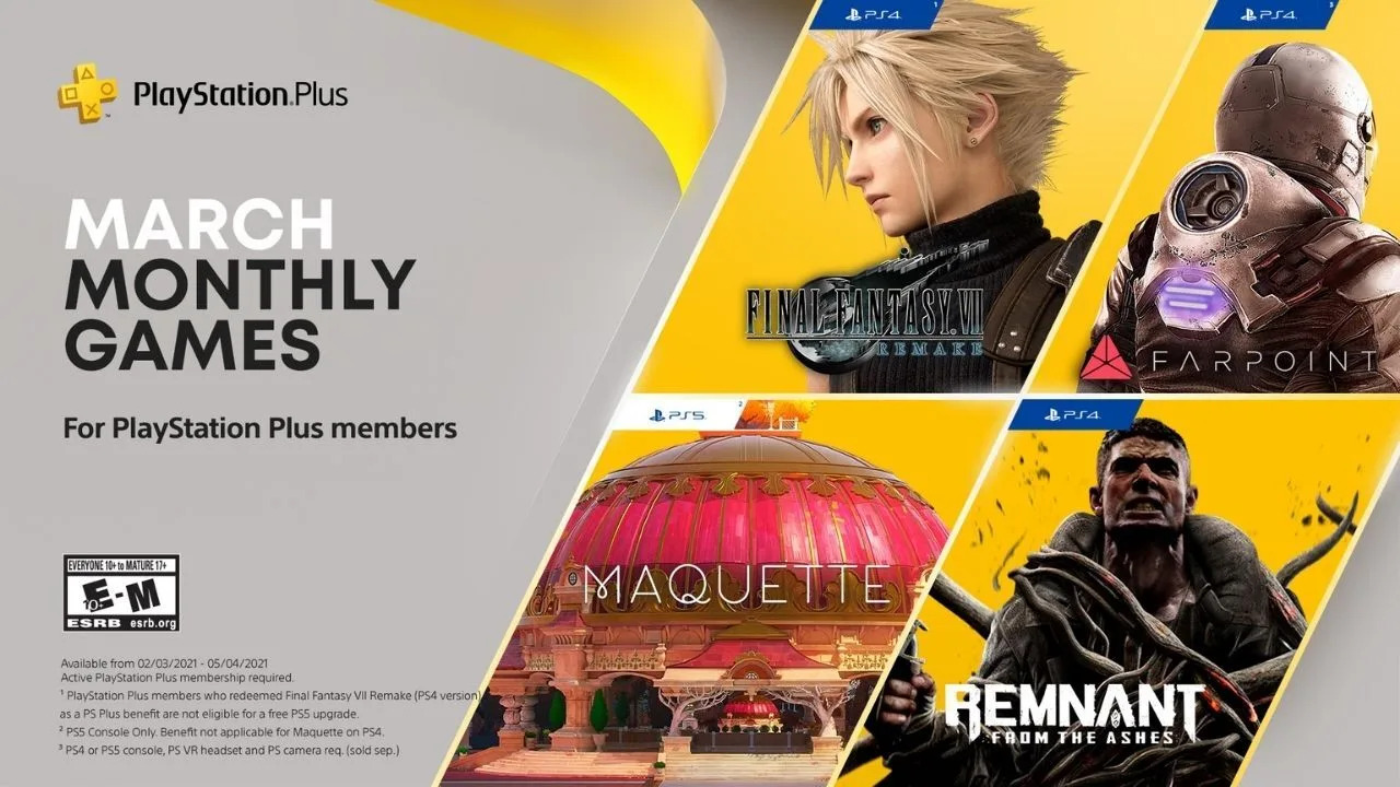 PS Plus March 2021 Banner