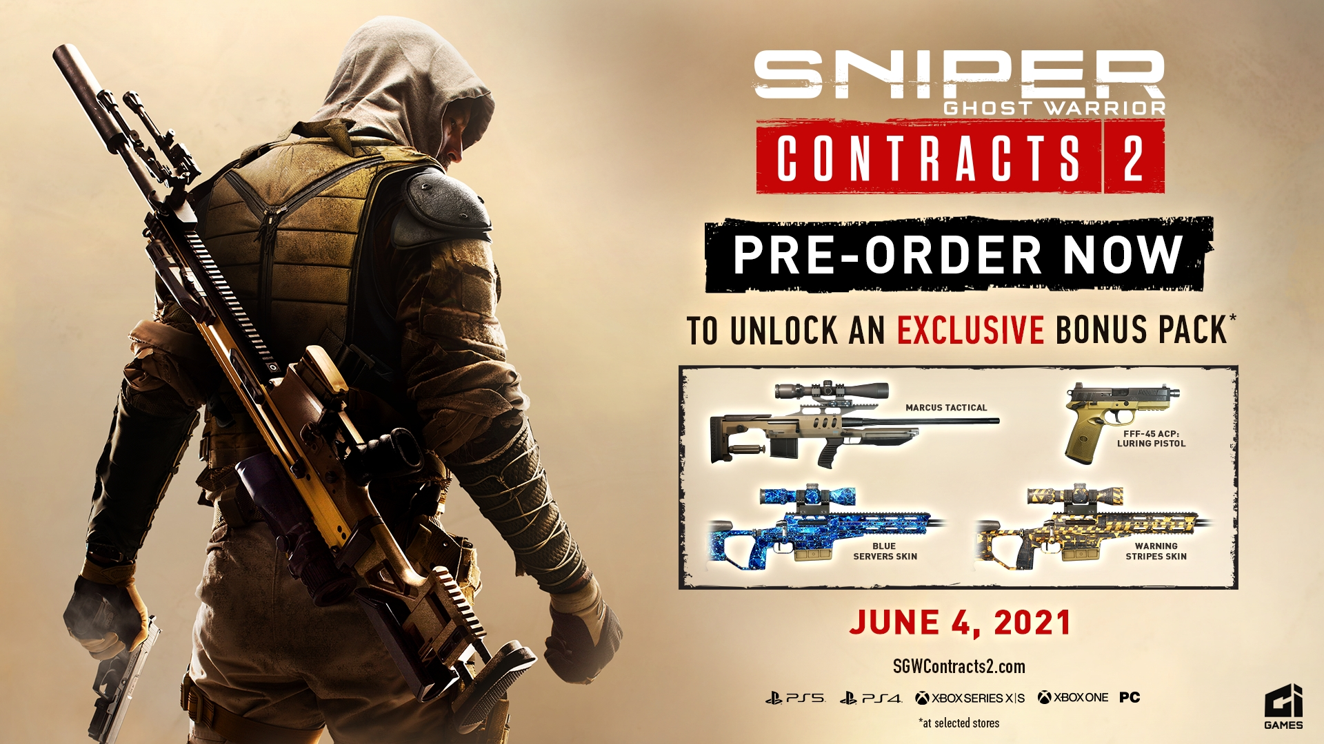 Sniper Ghost Warrior Contracts 2 Pre-Order Bonus
