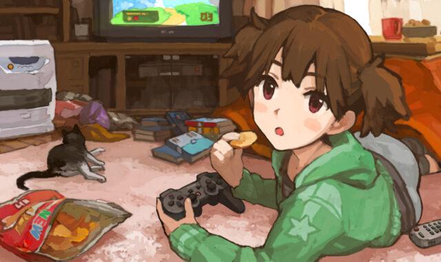 Suzuki Jun Playing PS3