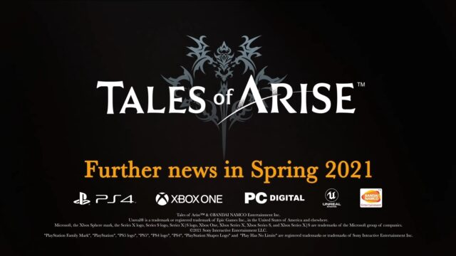 Tales of Arise - Further news in Spring 2021