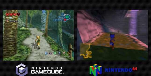 Dinosaur Planet N64 VS Star Fox Adventures GameCube Comparison