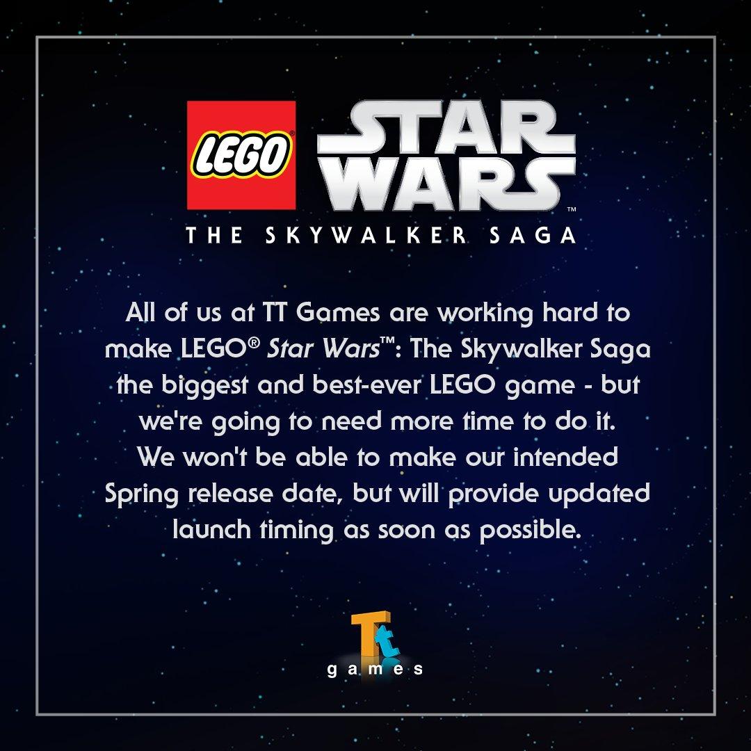 LEGO Star Wars The Skywalker Saga delayed beyond Spring 2021