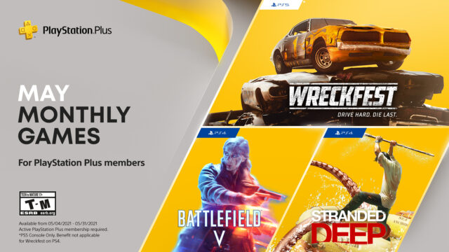 PS Plus May 2021 Banner