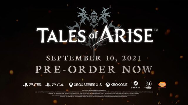 Tales of Arise Release Date Banner